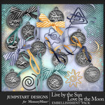 Live by the Sun Zodiac Charms Pack-$3.99 (Jumpstart Designs)