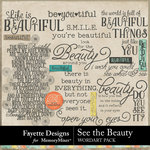 See the Beauty WordArt Pack-$2.99 (Fayette Designs)