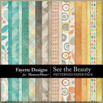 See the Beauty Patterned Papers-$4.99 (Fayette Designs)