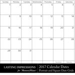 2017 Calendar Dates POR and SQ Freebie-$0.00 (Lasting Impressions)