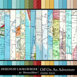 Off On An Adventure Textural Paper Pack-$5.99 (Laura Burger)