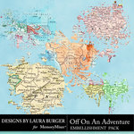 Off On An Adventure Maps Pack-$3.49 (Laura Burger)
