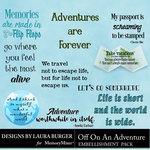 Off On An Adventure WordArt Pack-$4.99 (Laura Burger)