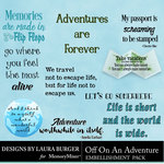 Off On An Adventure WordArt Pack-$3.49 (Laura Burger)
