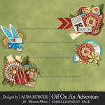Off On An Adventure Borders Pack-$3.49 (Laura Burger)