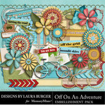 Off On An Adventure Add On Emb Pack-$3.49 (Laura Burger)
