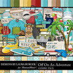 Off On An Adventure Combo Pack-$7.99 (Laura Burger)