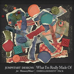 What I'm Really Made Of Distressed Bits-$2.80 (Jumpstart Designs)