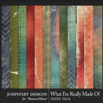 What I'm Really Made Of Distressed Papers-$2.80 (Jumpstart Designs)