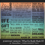 What I'm Really Made Of WordArt Pack-$2.80 (Jumpstart Designs)