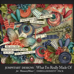 What I'm Really Made Of Embellishments-$3.49 (Jumpstart Designs)