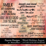 Weird Holidays Just Because WordArt Pack-$3.99 (Fayette Designs)