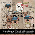 Weird Holidays Teddy Bear Day Pack-$2.80 (Fayette Designs)