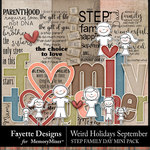 Weird Holidays Step Family Embellishments-$3.49 (Fayette Designs)