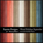 Weird Holidays Sept Solid Paper Pack-$2.80 (Fayette Designs)