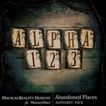 Abandoned Places Alphabet Pack-$1.75 (MagicalReality Designs)
