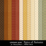 Spice of Autumn Pattern Paper Pack-$1.99 (Lindsay Jane)