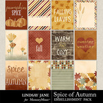 Spice of Autumn Journal Cards-$1.99 (Lindsay Jane)