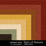 Spice of Autumn Embossed Paper Pack-$1.99 (Lindsay Jane)
