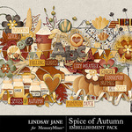 Spice of Autumn Embellishment Pack-$3.49 (Lindsay Jane)