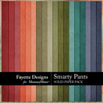 Smarty Pants Solid Paper Pack-$3.99 (Fayette Designs)