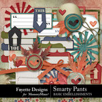 Smarty Pants Basic Embellishments-$3.99 (Fayette Designs)