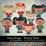 Smarty Pants Sassy Kids Embellishments-$3.99 (Fayette Designs)