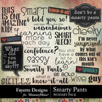 Smarty Pants WordArt Pack-$2.80 (Fayette Designs)