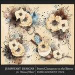 Sweet Cinnamon on the Breeze Art Clusters Pack-$2.80 (Jumpstart Designs)