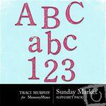 Sunday Market Alphabet Pack-$1.00 (Traci Murphy)