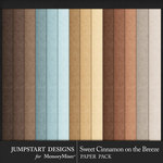 Sweet Cinnamon on the Breeze Solid Paper Pack-$2.99 (Jumpstart Designs)