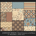 Sweet Cinnamon on the Breeze Patterned Paper-$3.99 (Jumpstart Designs)