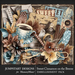 Sweet Cinnamon on the Breeze Embellishments-$4.99 (Jumpstart Designs)