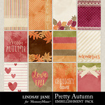 Pretty Autumn Journal Cards Pack-$1.99 (Lindsay Jane)