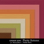 Pretty Autumn Embossed Paper Pack-$1.99 (Lindsay Jane)