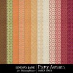 Pretty Autumn Patterned Paper Pack-$1.99 (Lindsay Jane)