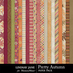 Pretty Autumn Paper Pack-$2.49 (Lindsay Jane)