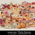 Pretty Autumn Embellishment Pack-$3.49 (Lindsay Jane)