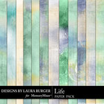 Life Collection Painted Paper Pack-$3.99 (Laura Burger)