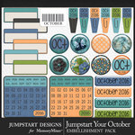 Jumpstart Your October Flair Pack-$2.80 (Jumpstart Designs)