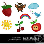 Dinky Doodle Rubons Vol 2-$2.00 (Karen Lewis)