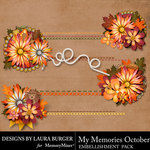 My Memories October Stitch Borders-$4.99 (Laura Burger)