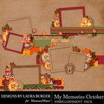 My Memories October Frame Clusters-$4.99 (Laura Burger)