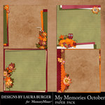 My Memories October Stacked Papers-$4.99 (Laura Burger)
