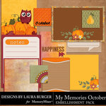 My Memories October Pocket Pieces-$2.80 (Laura Burger)