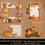 My Memories October Clusters Pack-$4.99 (Laura Burger)