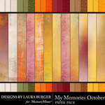 My Memories October Textured Papers-$4.19 (Laura Burger)