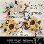 Fall Memories Clusters Pack-$3.49 (Indigo Designs)