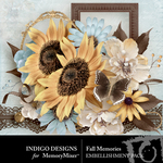 Fall Memories Embellishment Pack-$3.49 (Indigo Designs)