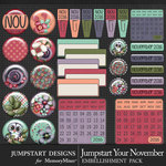 Jumpstart Your November Flairs Pack-$2.80 (Jumpstart Designs)